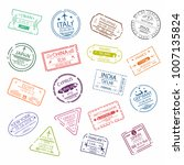 passport stamp or visa signs... | Shutterstock .eps vector #1007135824
