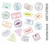 passport stamp or visa signs... | Shutterstock .eps vector #1007135824