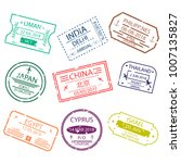 passport stamp or visa signs... | Shutterstock .eps vector #1007135827