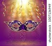 mardi gras carnival party... | Shutterstock .eps vector #1007136949