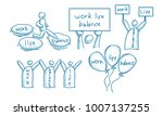 work life balance template set | Shutterstock .eps vector #1007137255