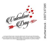 valentine day typographic card  | Shutterstock .eps vector #1007137285