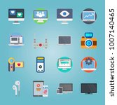 icon set about devices. with... | Shutterstock .eps vector #1007140465