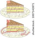 easy slice of cake maze for... | Shutterstock .eps vector #1007142871