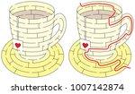 easy tea maze for younger kids... | Shutterstock .eps vector #1007142874