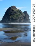 piha beach with rock formations ... | Shutterstock . vector #1007143429