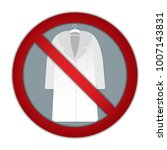 vector icon of a ban on fur... | Shutterstock .eps vector #1007143831