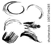 set of black brush strokes.... | Shutterstock .eps vector #1007146285