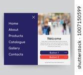 website design template | Shutterstock .eps vector #1007150599