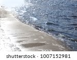 sand beach and sea wave for... | Shutterstock . vector #1007152981