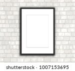 3d render of a blank picture... | Shutterstock . vector #1007153695