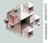 diamond kaleidoscope system in...   Shutterstock .eps vector #1007155777