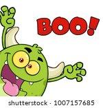 green monster cartoon emoji... | Shutterstock .eps vector #1007157685