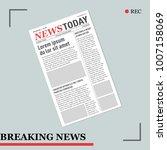 breaking news with newspaper | Shutterstock .eps vector #1007158069