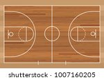 basketball court floor with... | Shutterstock .eps vector #1007160205