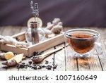 still life with a transparent... | Shutterstock . vector #1007160649