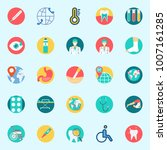 icons set about medical. with... | Shutterstock .eps vector #1007161285