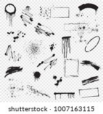 set of blots  brush strokes ...   Shutterstock .eps vector #1007163115