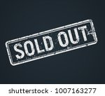 sold out white grunge stamp on... | Shutterstock .eps vector #1007163277