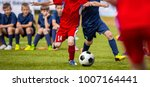 football match for young... | Shutterstock . vector #1007164441