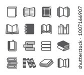 book icon set | Shutterstock .eps vector #1007166907
