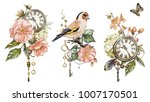 steam punk watercolor ... | Shutterstock . vector #1007170501