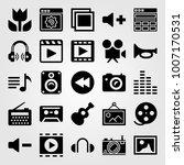multimedia icon set vector.... | Shutterstock .eps vector #1007170531