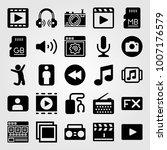 multimedia icon set vector.... | Shutterstock .eps vector #1007176579