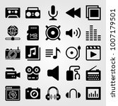 multimedia icon set vector.... | Shutterstock .eps vector #1007179501