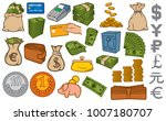 money icons set  credit card... | Shutterstock .eps vector #1007180707