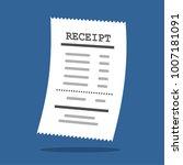 paper receipt in a flat style... | Shutterstock .eps vector #1007181091