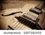 vintage custom handmade jazz... | Shutterstock . vector #1007181955