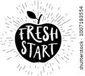fresh start card. hand drawn... | Shutterstock .eps vector #1007183554