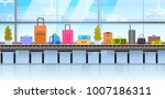 different suitcases on baggage... | Shutterstock .eps vector #1007186311