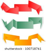 vector set of origami abstract... | Shutterstock .eps vector #100718761