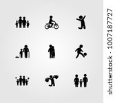 humans icon set vector. child ... | Shutterstock .eps vector #1007187727