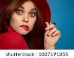 young beautiful woman in red... | Shutterstock . vector #1007191855
