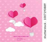 design template   air balloon ... | Shutterstock .eps vector #1007193889