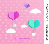 design template   air balloon ... | Shutterstock .eps vector #1007193919