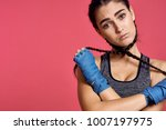 woman with protection on her... | Shutterstock . vector #1007197975
