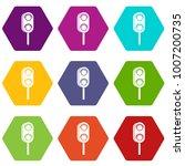 semaphore trafficlight icon set ... | Shutterstock .eps vector #1007200735
