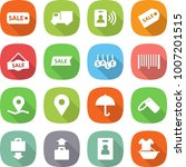 flat vector icon set   sale... | Shutterstock .eps vector #1007201515