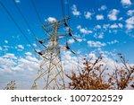 high voltage post.high voltage...   Shutterstock . vector #1007202529