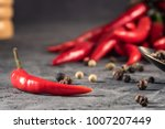red hot chilli pepper paprika... | Shutterstock . vector #1007207449