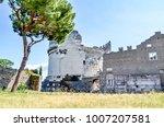 landscape view the ancient via... | Shutterstock . vector #1007207581