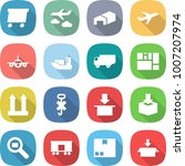 flat vector icon set   delivery ... | Shutterstock .eps vector #1007207974