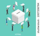 voting flat isometric concept.... | Shutterstock . vector #1007208784