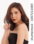 an asian young cute girl pose... | Shutterstock . vector #1007211085