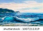 morning on sea  wave ...   Shutterstock . vector #1007211319