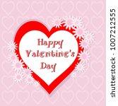 happy valentine's day vector... | Shutterstock .eps vector #1007212555